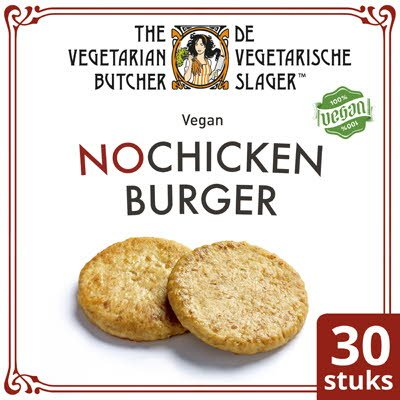 De Vegetarische Slager NoChicken Vegetarische Kipburger 30x80g -