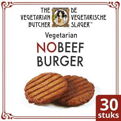 De Vegetarische Slager NoMeat Vegetarische Hamburger 30x80g -