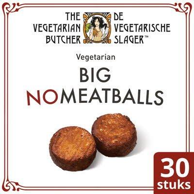 De Vegetarische Slager NoMeatball Vegetarische Gehaktbal Groot 30x90g -