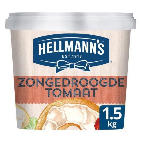 Hellmann's Sandwich Delight Roomkaas Zongedroogde Tomaat 1,5kg -