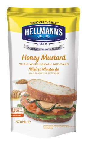 Hellmann's Sandwich Saus Honing Mosterd 570ml