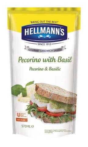 Hellmann's Sandwich Saus Pecorino met Basilicum 570ml
