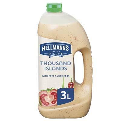 Hellmann's Thousand Islands Dressing Vloeibaar 3L -