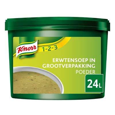 Knorr 1-2-3 Erwtensoep in grootverpakking Poeder 24L