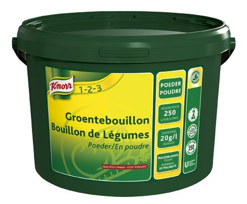 Knorr 1-2-3 Groentebouillon krachtige smaak Poeder 250L