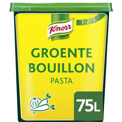 Knorr 1-2-3 Groentebouillon Pasta opbrengst  75L -