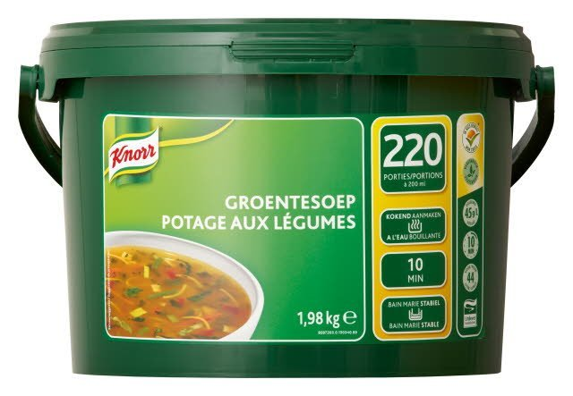 Knorr 1-2-3 Heldere Groentesoep in grootverpakking Poeder 66L