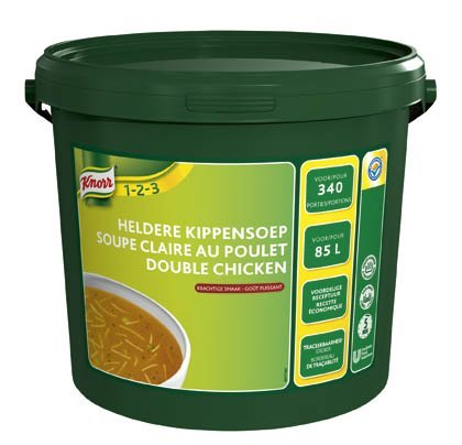 Knorr 1-2-3 Heldere Kippensoep in grootverpakking Poeder 85L