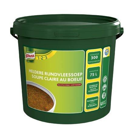 Knorr 1-2-3 Heldere Rundvleessoep in grootverpakking