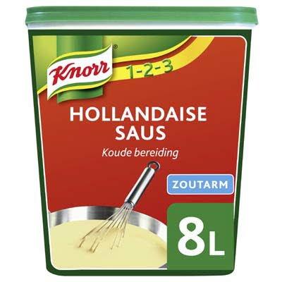 Knorr 1-2-3 Hollandaise Saus Zoutarm 1,08kg -