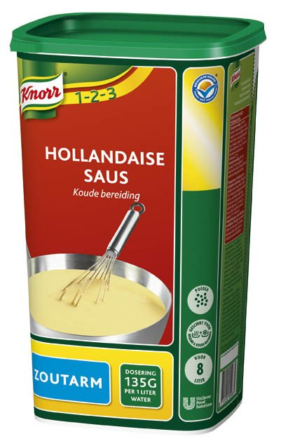 Knorr 1-2-3 Hollandaise Saus Zoutarm