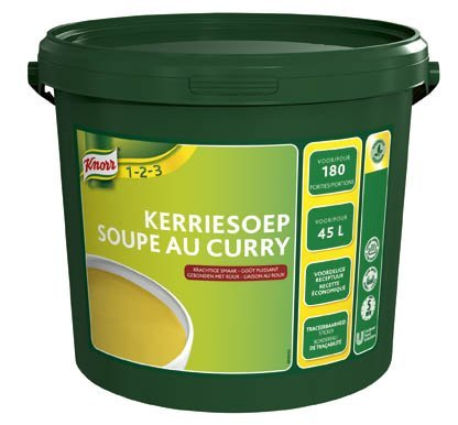 Knorr 1-2-3 Kerriesoep in grootverpakking Poeder 45L