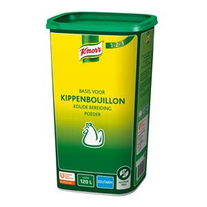 Knorr 1-2-3 Kippenbouillon Koude Basis Zoutarm opbrengst 120L -