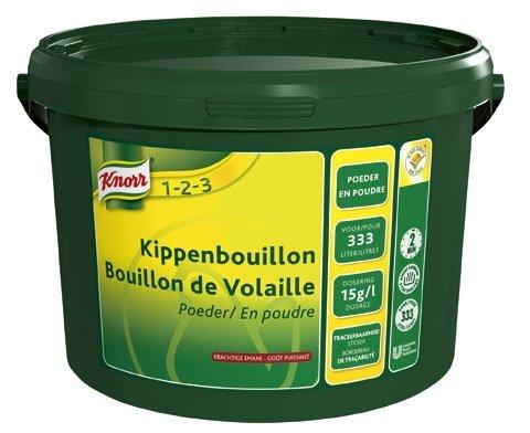 Knorr 1-2-3 Kippenbouillon krachtige smaak Poeder 333L