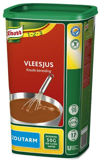 Knorr 1-2-3 Koude Basis Vleesjus Zoutarm 0,85kg