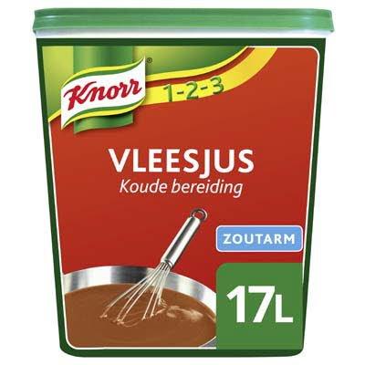 Knorr 1-2-3 Koude Basis Vleesjus Zoutarm Poeder opbrengst 17L -