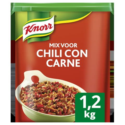 Knorr 1-2-3 Mix voor Chili con Carne 1,2kg -