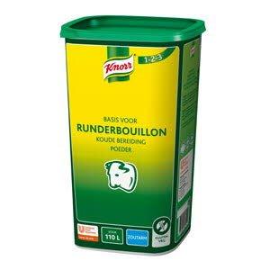Knorr 1-2-3 Runderbouillon Koude Basis Zoutarm opbrengst 110L -