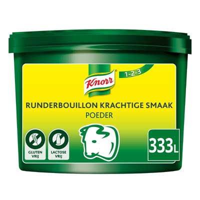 Knorr 1-2-3 Runderbouillon krachtige smaak Poeder 333L