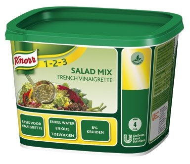Knorr 1-2-3 Salademix French Vinaigrette Poeder opbrengst 4L -