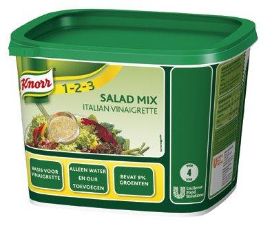 Knorr 1-2-3 Salademix Italian Vinaigrette Poeder opbrengst 4L -