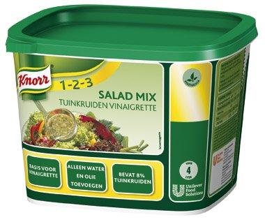 Knorr 1-2-3 Salademix Tuinkruiden Vinaigrette Poeder Opbrengst 4L -