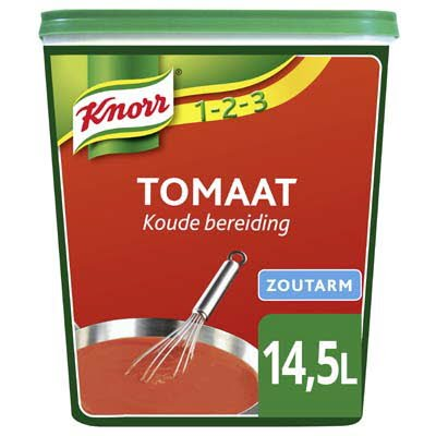 Knorr 1-2-3 Tomaat Zoutarm 0,95kg -