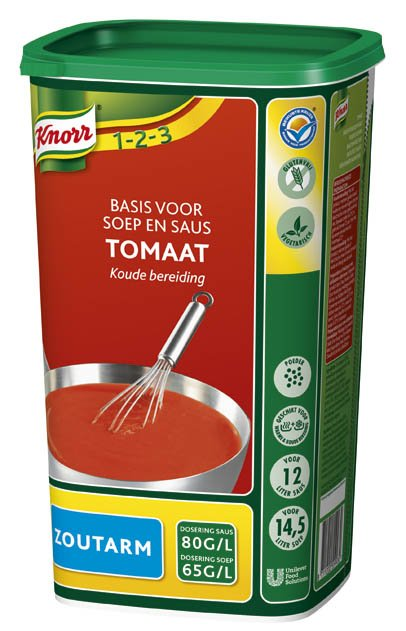 Knorr 1-2-3 Tomaat Zoutarm