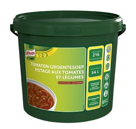 Knorr 1-2-3 Tomaten-Groentesoep in grootverpakking Poeder 54L