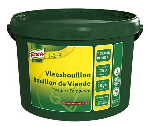 Knorr 1-2-3 Vleesbouillon krachtige smaak Poeder 250L