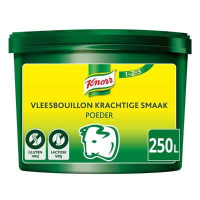 Knorr 1-2-3 Vleesbouillon krachtige smaak Poeder 250L -