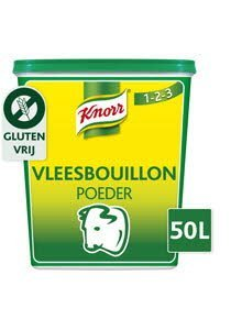 Knorr 1-2-3 Vleesbouillon krachtige smaak Poeder 50L