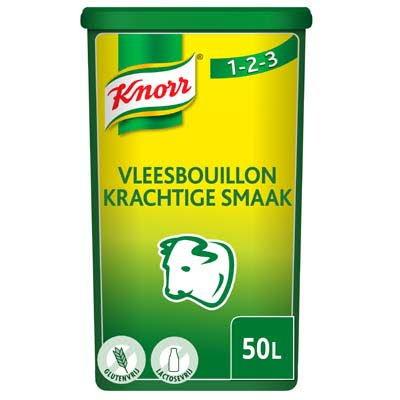 Knorr 1-2-3 Vleesbouillon krachtige smaak Poeder opbrengst 50L -