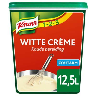 Knorr 1-2-3 Witte Crème Zoutarm 1kg -