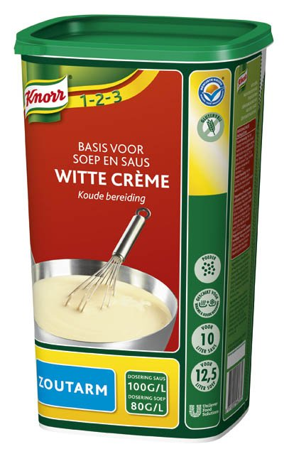 Knorr 1-2-3 Witte Crème Zoutarm