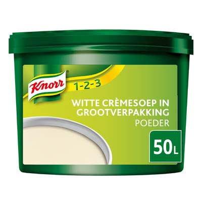 Knorr 1-2-3 Witte Crèmesoep in grootverpakking Poeder 50L