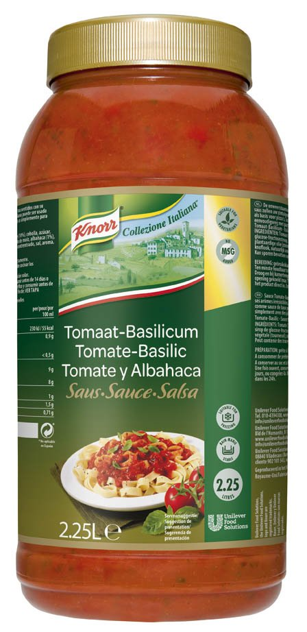 Knorr Collezione Italiana Tomaat & Basilicum Saus 2,25L