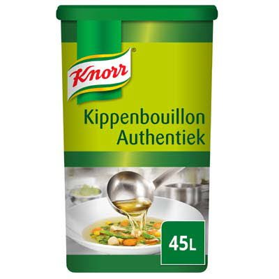 Knorr Kippenbouillon Authentiek Poeder opbrengst 45L -