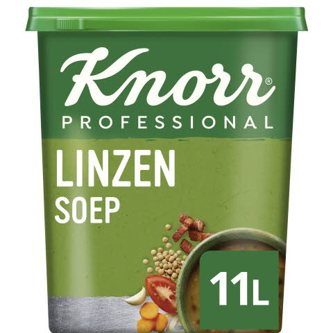 Knorr Klassiek Linzensoep Poeder opbrengst 11L -