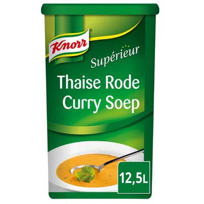Knorr Supérieur Thaise Rode Curry Soep Poeder 12,5L