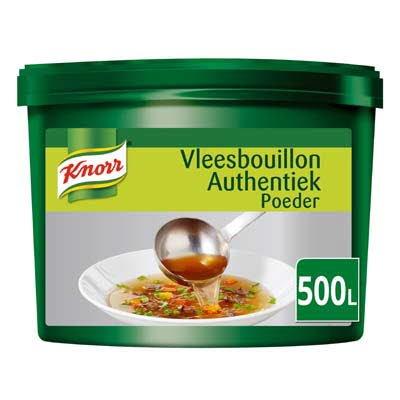 Knorr Vleesbouillon Authentiek Poeder opbrengst 500L -