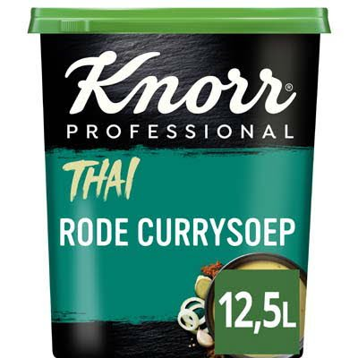 Knorr Wereld Thaise Rode Curry Soep Poeder opbrengst 12,5L -