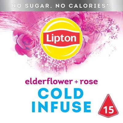 Lipton Cold Infuse Elderflower Rose 15 zakjes -
