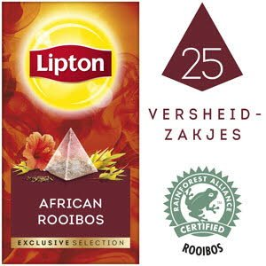 Lipton Exclusive Selection Afrikaanse Rooibos 25 zakjes -