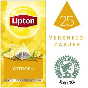 Lipton Exclusive Selection Citroen 25 zakjes -