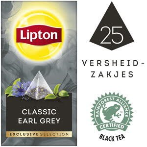 Lipton Exclusive Selection Earl Grey 25 zakjes -