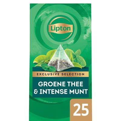Lipton Exclusive Selection Groene Thee Intense Munt 25 zakjes -