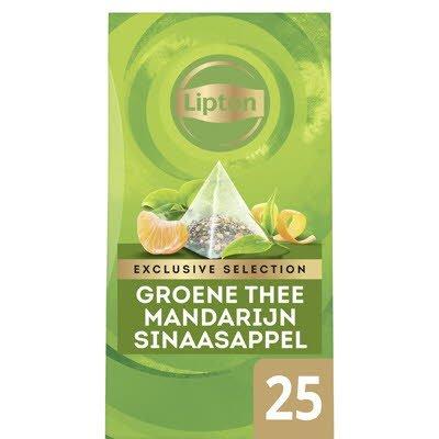 Lipton Exclusive Selection Groene Thee Mandarijn Sinaasappel 25 zakjes -