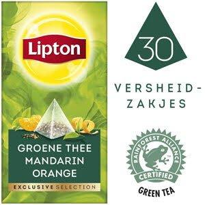 Lipton Exclusive Selection Groene Thee Mandarijn Sinaasappel 30 zakjes