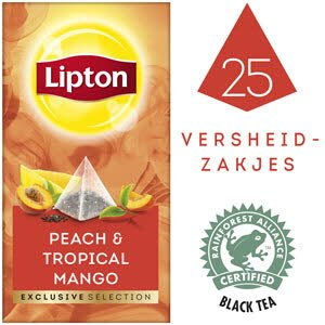 Lipton Exclusive Selection Perzik Mango 25 zakjes -